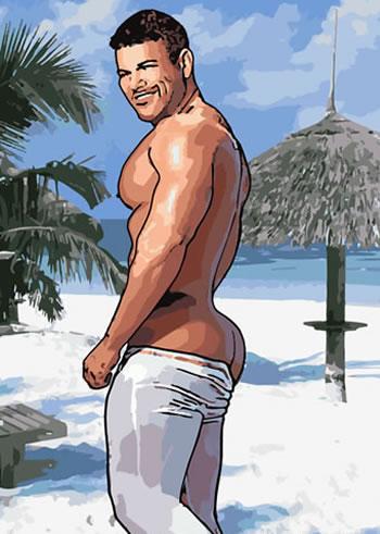 gay Beach bum