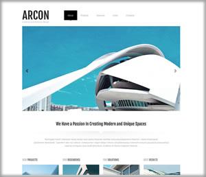 architects web design darkblue