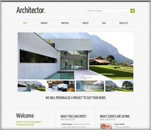 architects web design clear