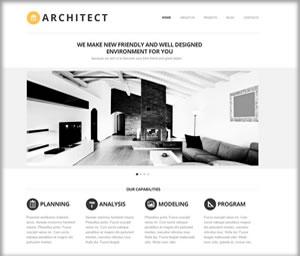 architects web design white