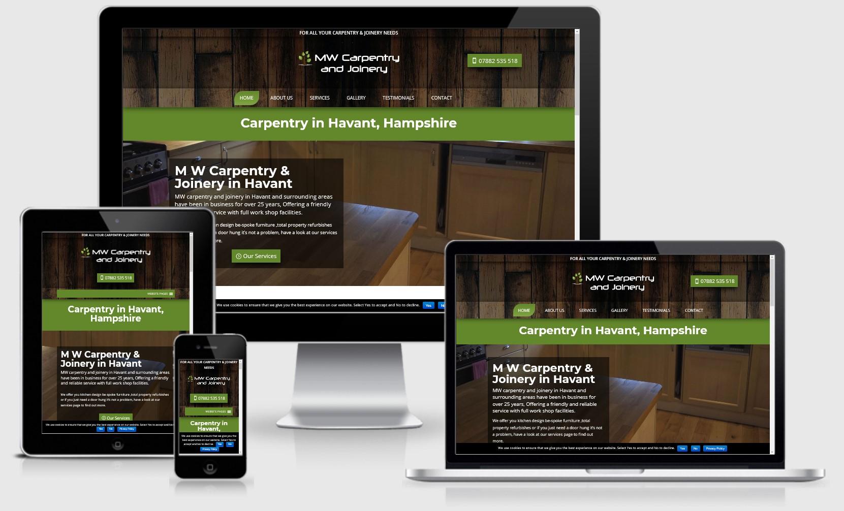 MW Carpentry Havant Website