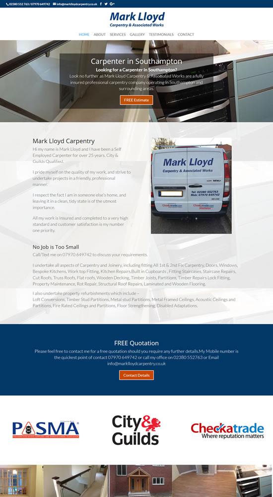 Mark Lloyd Carpentry Website
