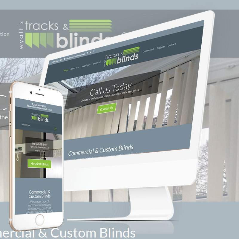 Wyatt's Tracks & Blinds Website