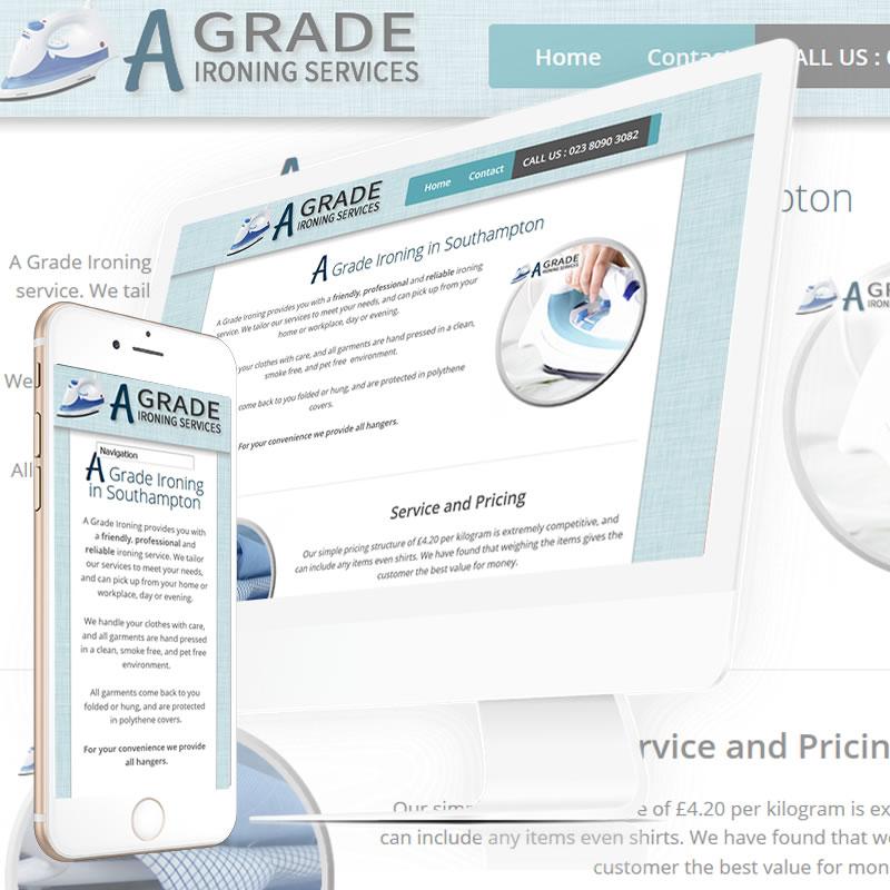 A Grade Ironing  Website