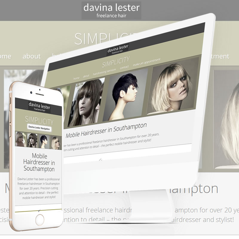 Davina Hairdressing Website