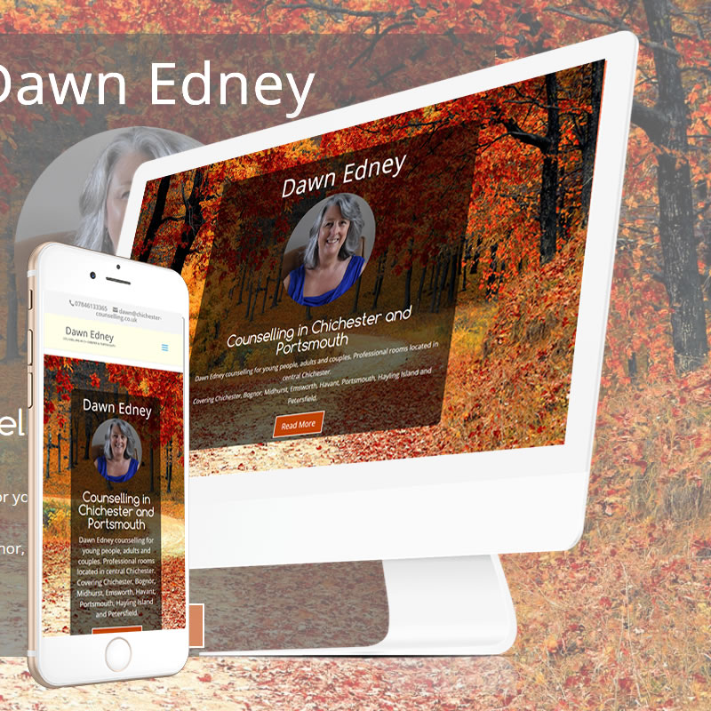 counselling web design responsive