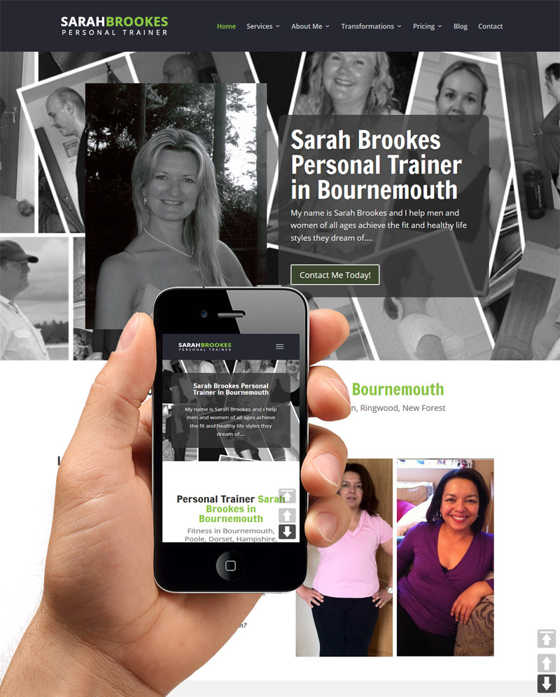 Personal Trainer Bournemouth Website