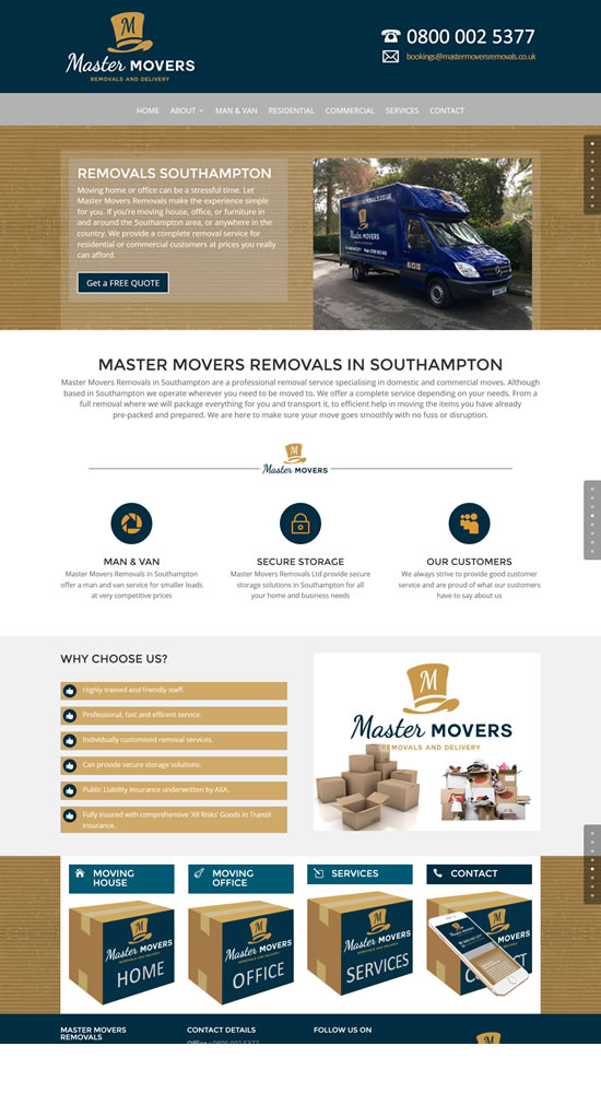 Master Movers Removals Website