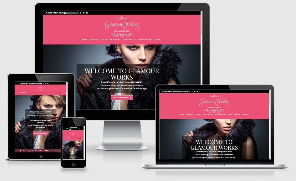 Glamour Works Website