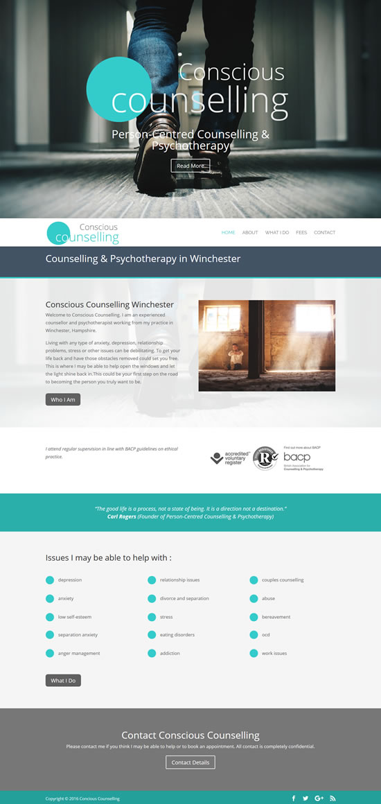 Conscious Counselling Website