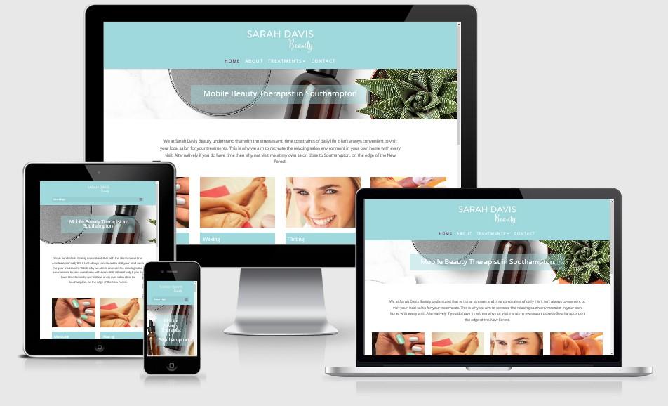 Sarah Davis Beauty Website
