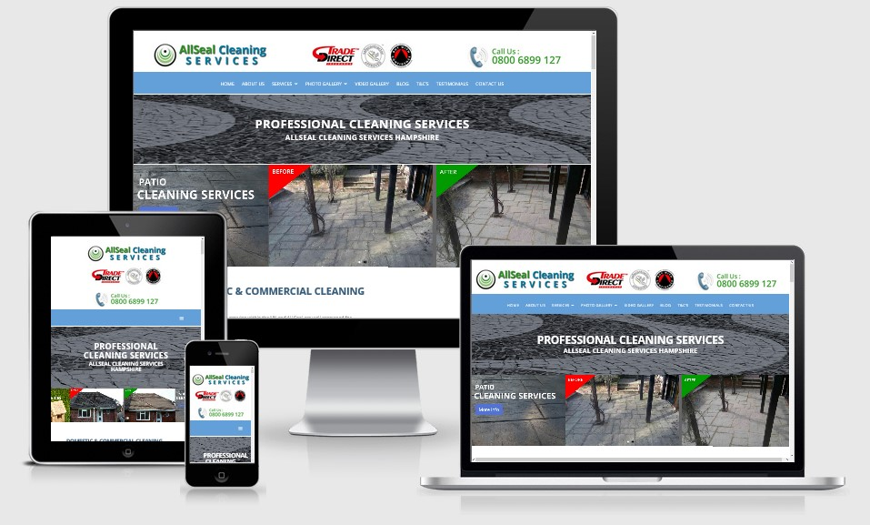 AllSeal Cleaning Services Website