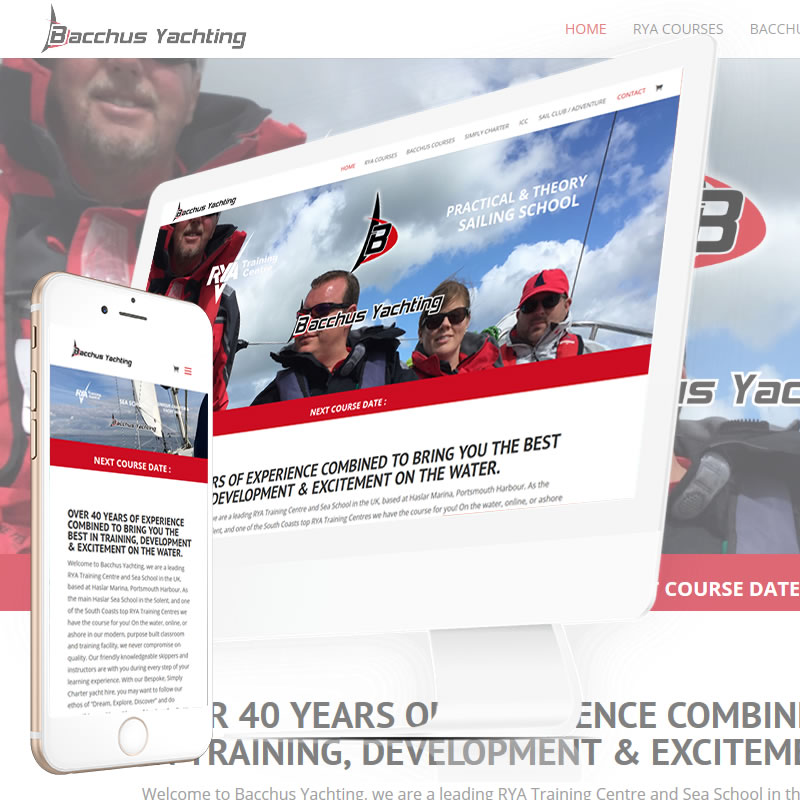 Bacchus Yachting Website