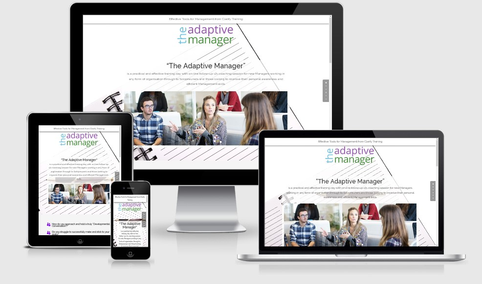 Adaptive Manager Landing Page