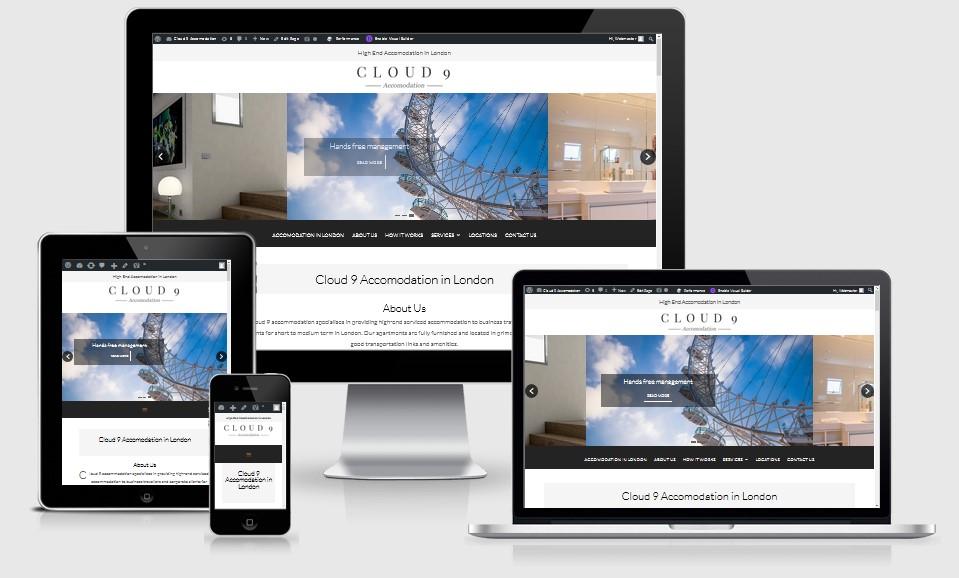 Cloud 9 London Accomodation Website