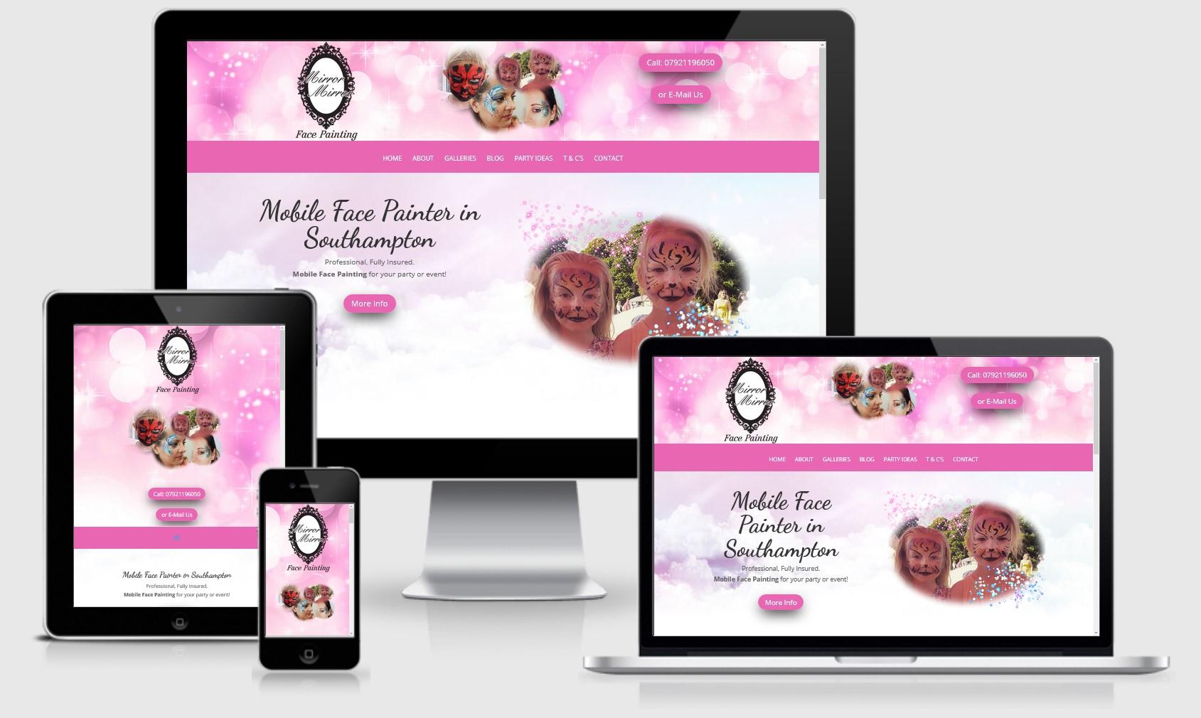 Mirror Mirror Face Painting Website