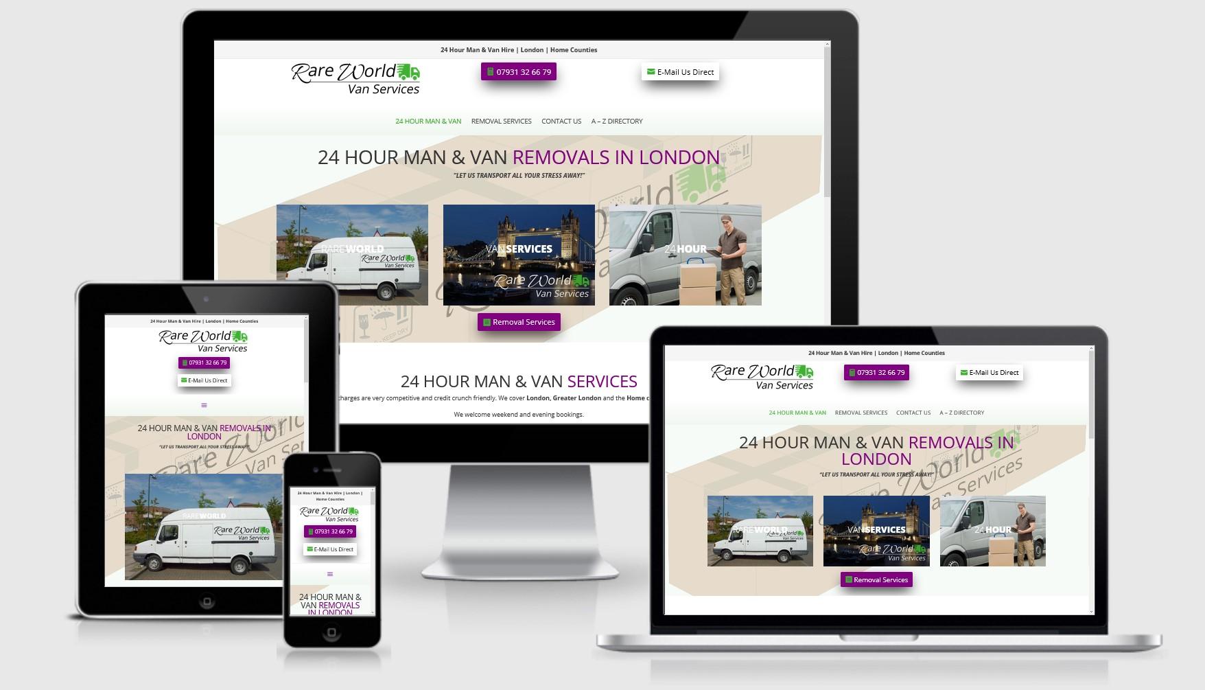RareWorld Vans Website