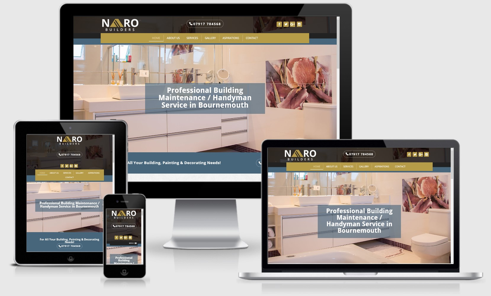 Naro Builders UK Website