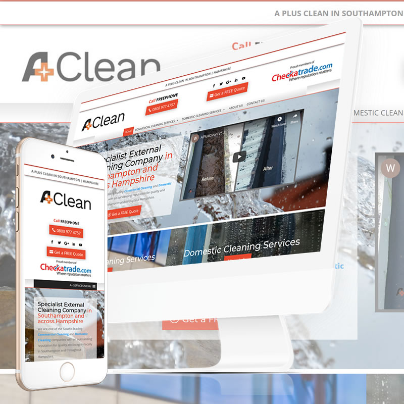 A+ Cleaning Services Website