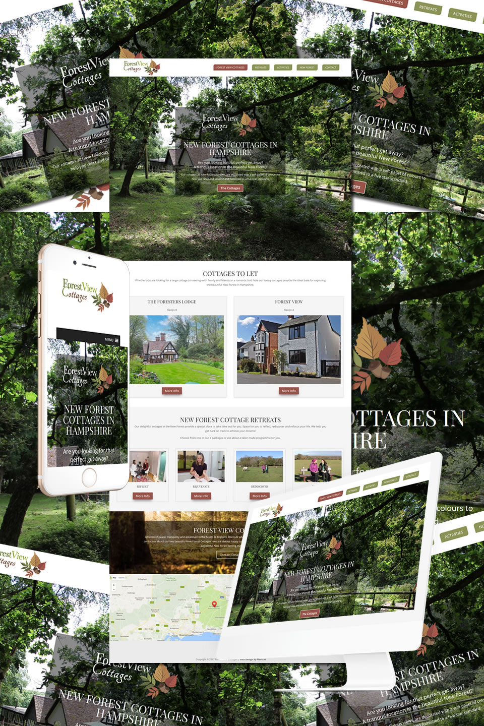 Forest View Cottages Website