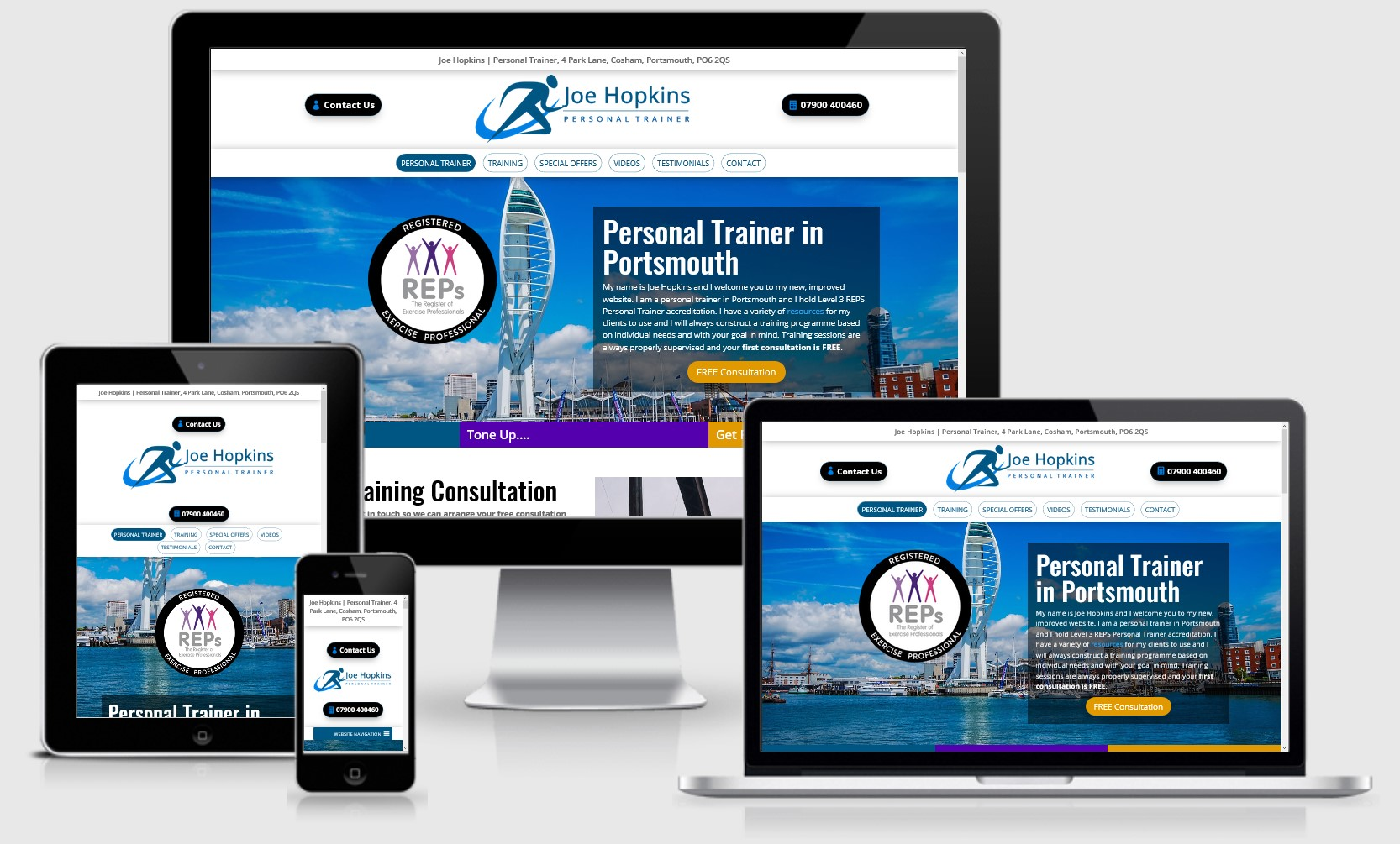 Personal Trainer Portsmouth Website