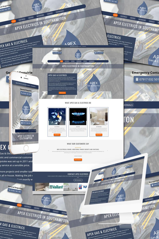 Apex Gas & Electrics Southampton Website