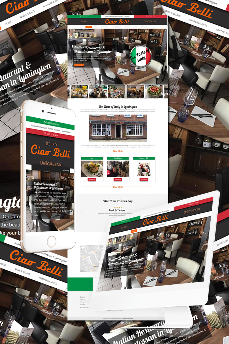 Ciao Belli Restaurant Website