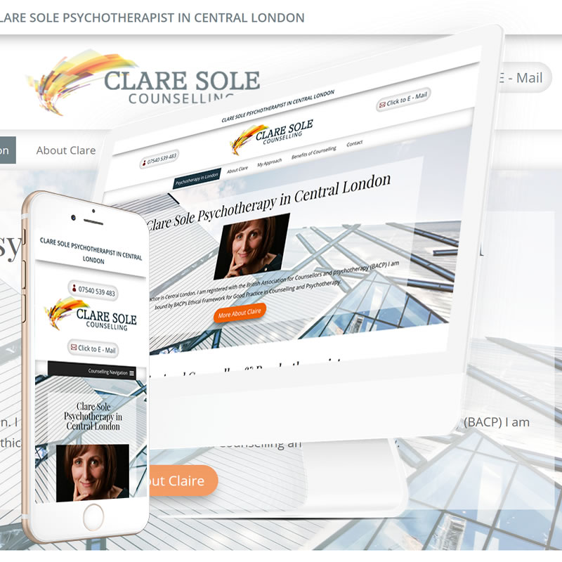 Clare Sole Psychotherapy Website