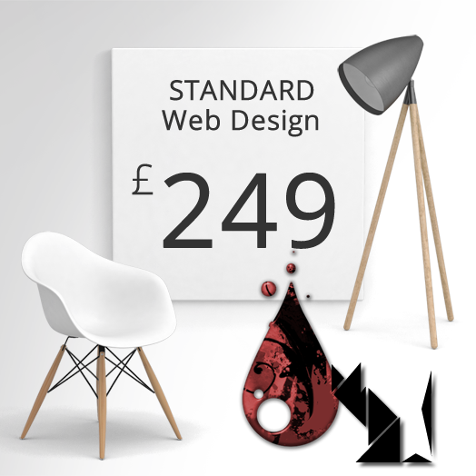 standard web design package
