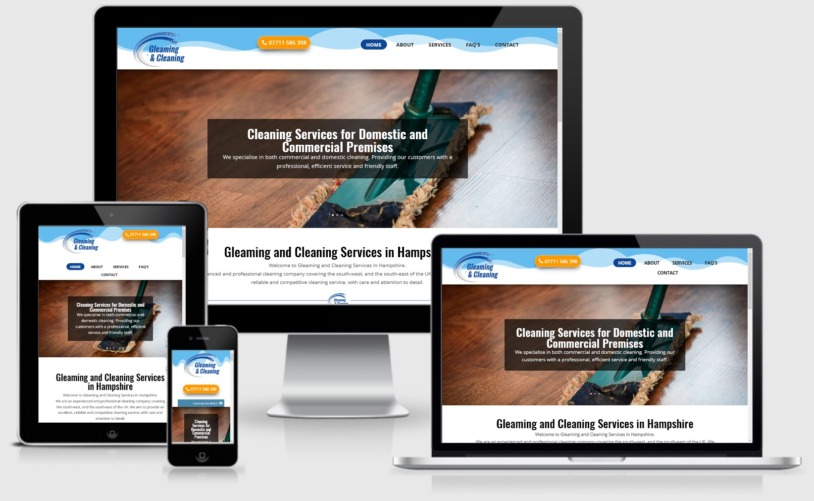 Gleaming & Cleaning Website