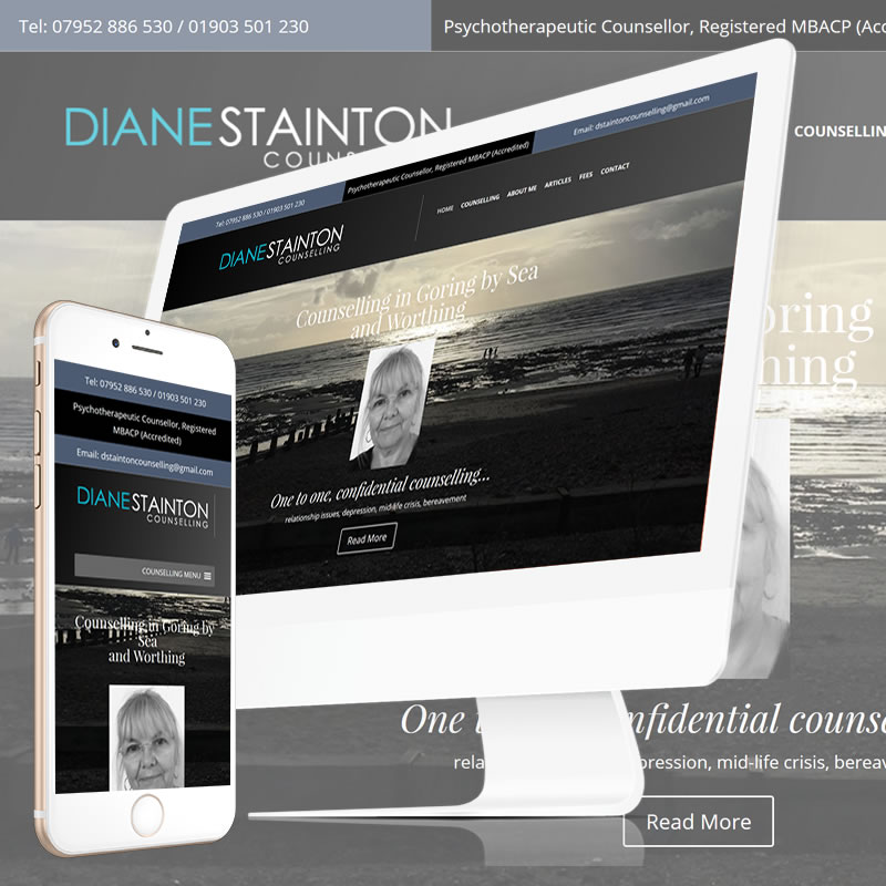 counselling web design blue