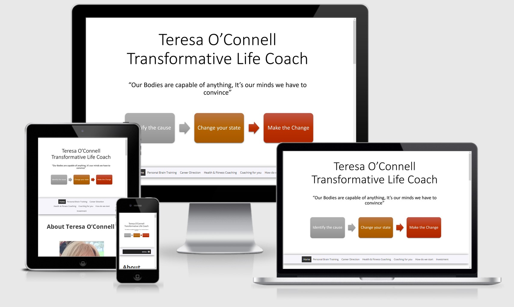 Teresa O'Connell Transformative Life Coach Website