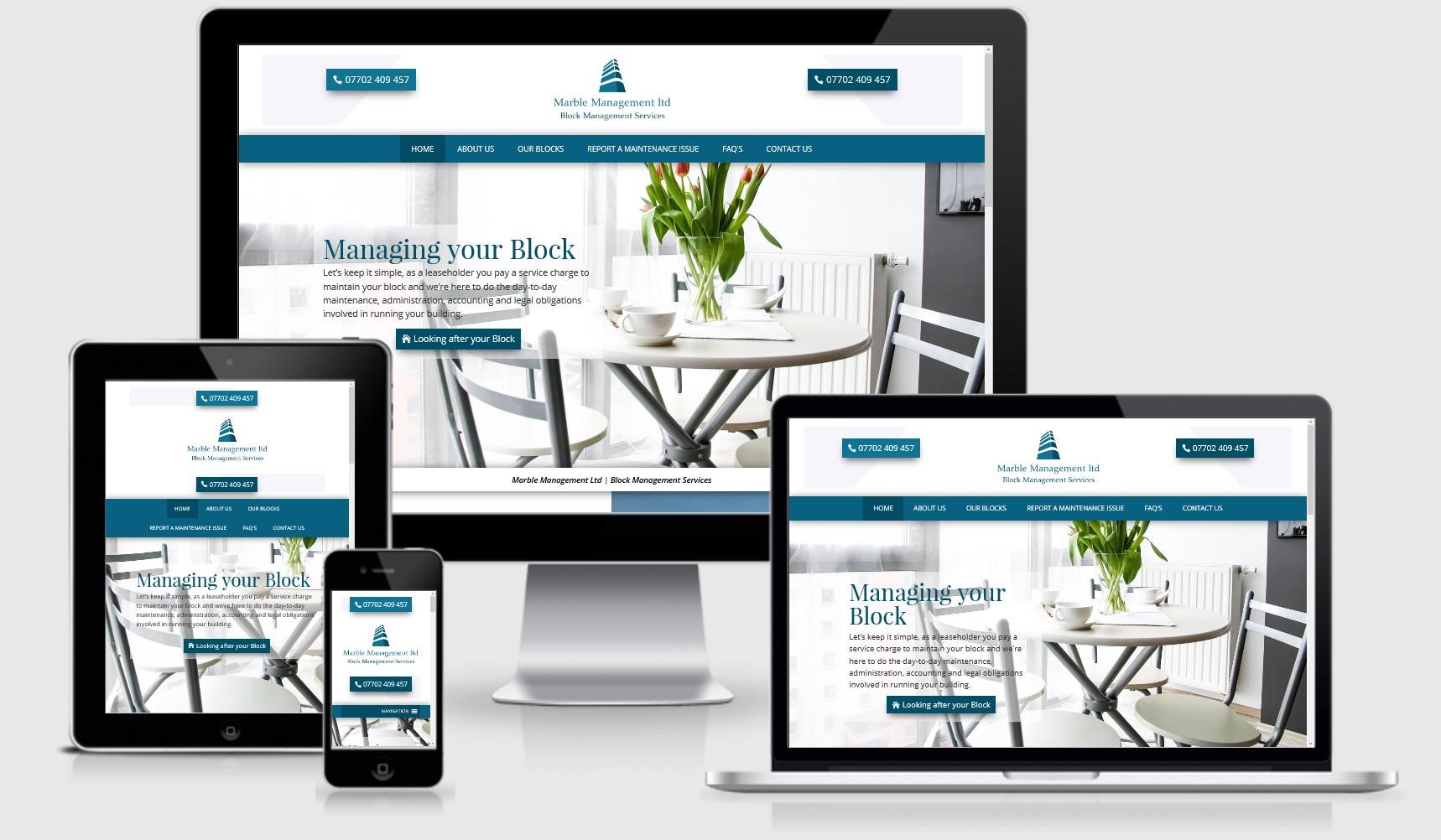 Marble Management London Website