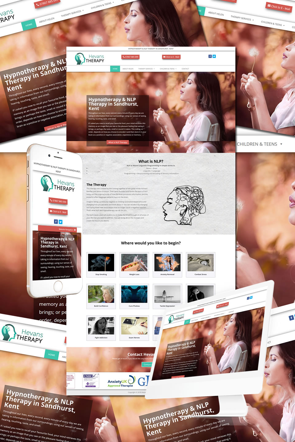Hevans Therapy Website