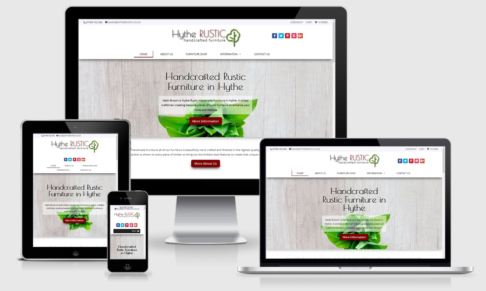 Hythe Rustic Furniture Website