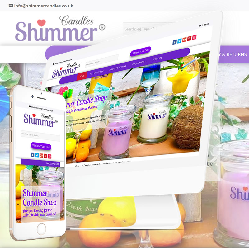 Shimmer Candles in Southampton Website