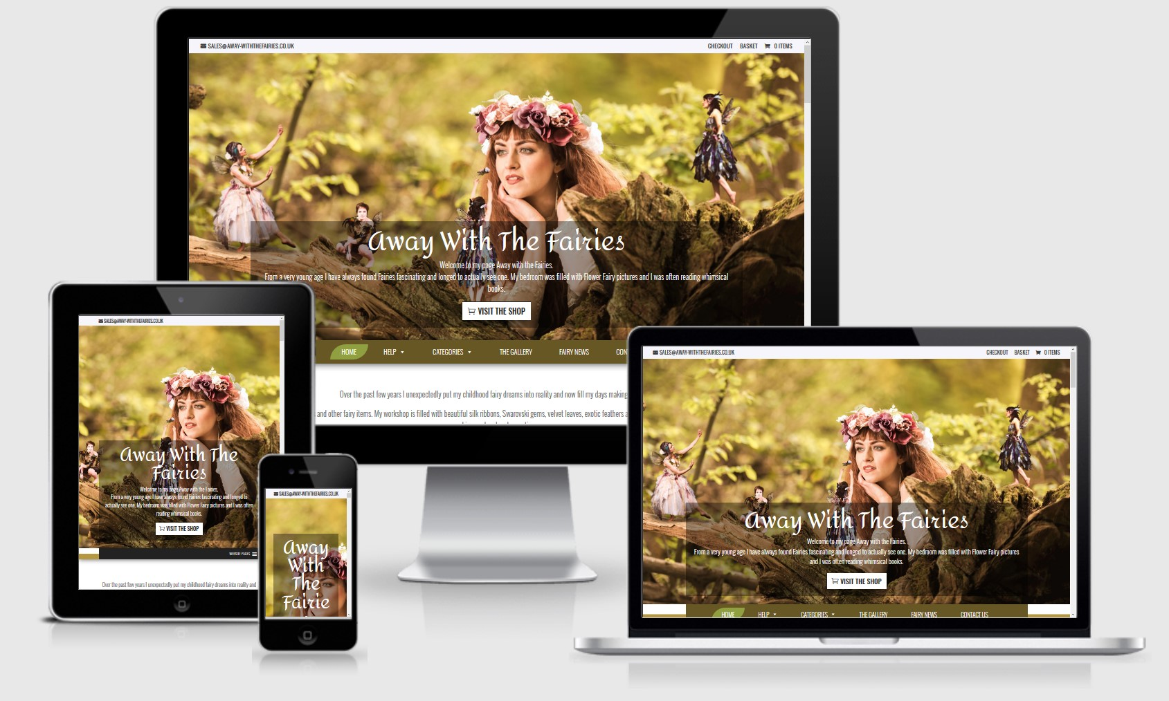 Away With the Fairies Website