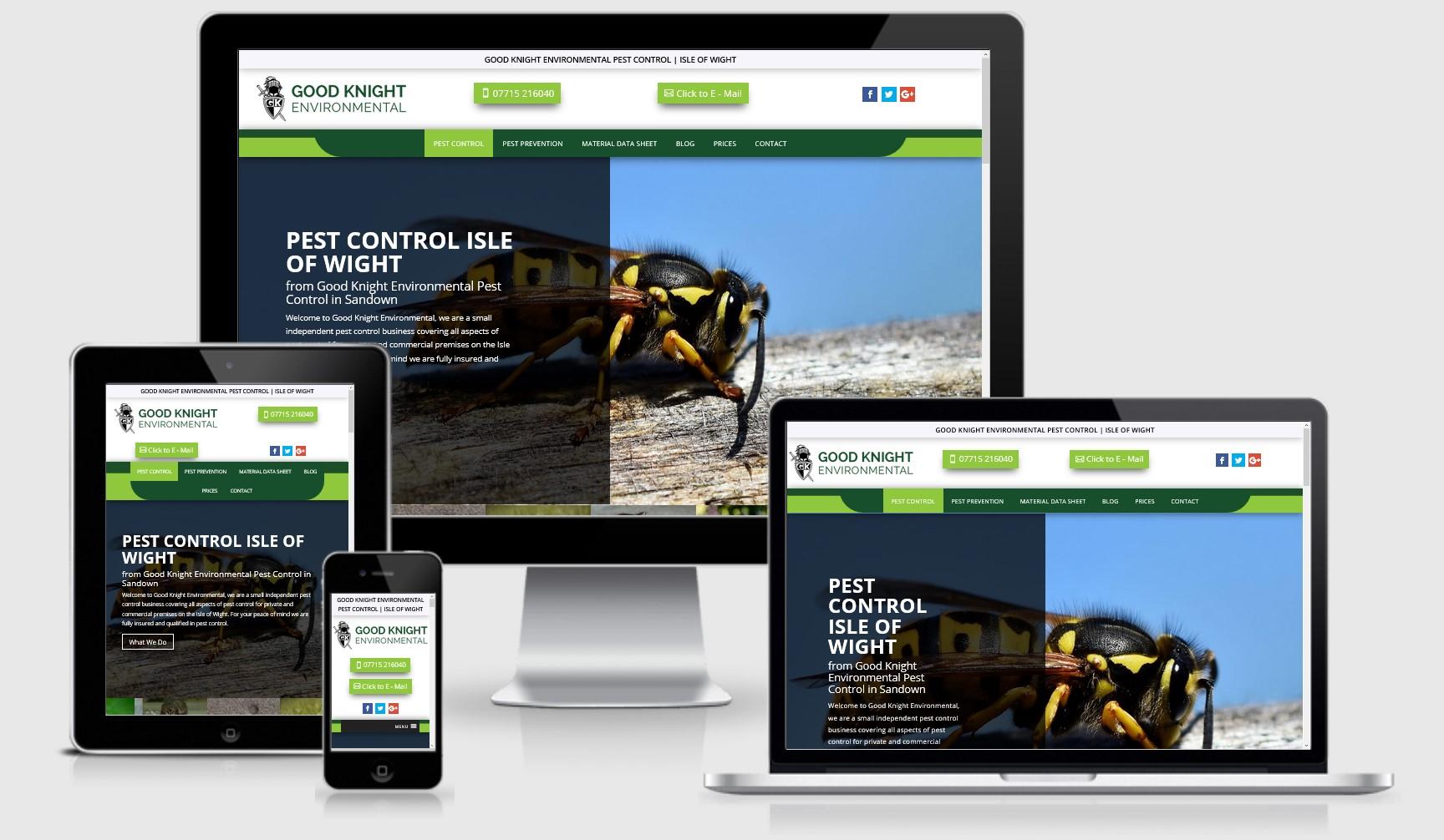 Good Knight Pest Control IOW Website