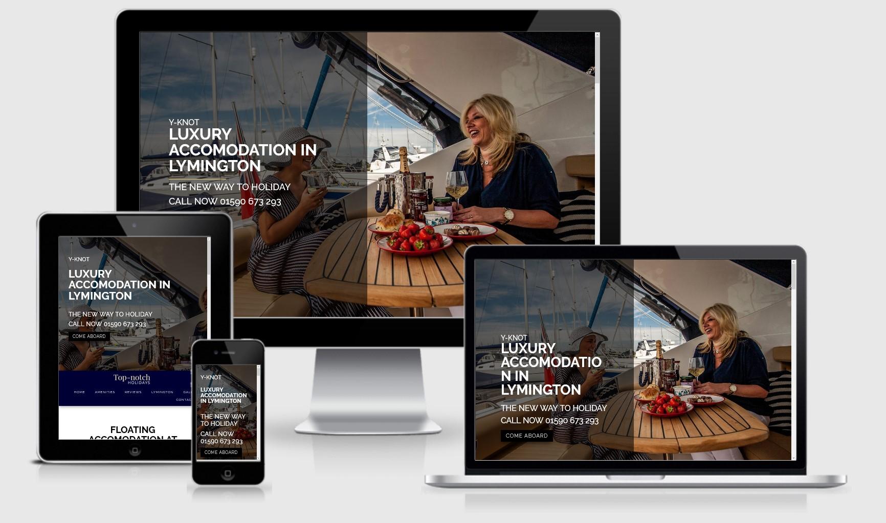 Top Notch Holidays Lymington Website