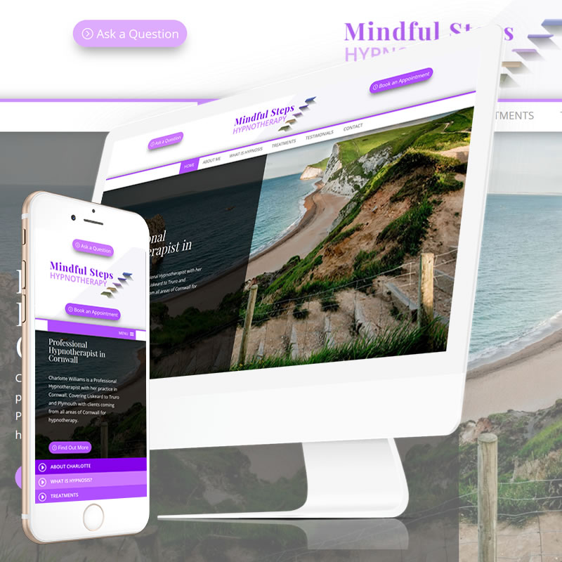 Mindful Steps Hypnotherapy Cornwall Website