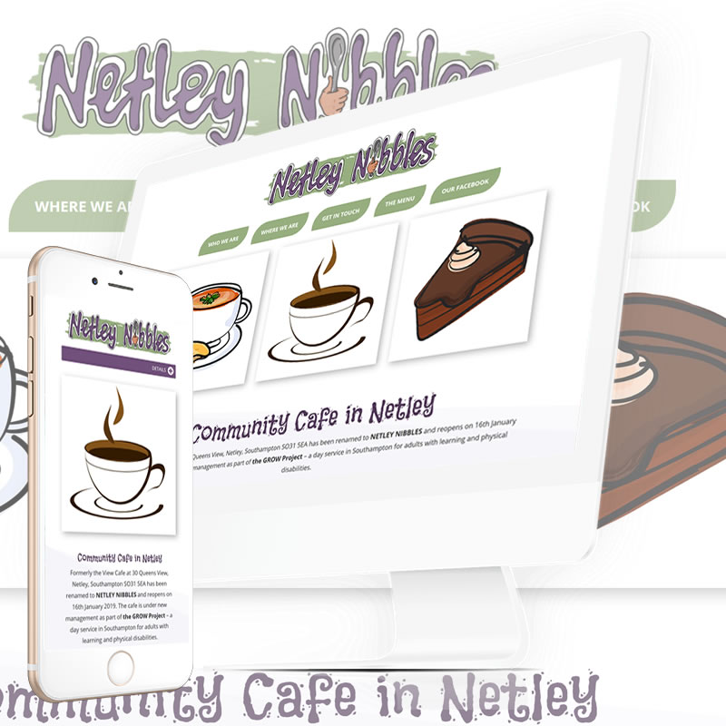 Netley Nibbles Cafe in Southampton Website